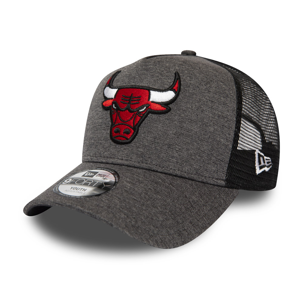 Chicago Bulls Shadow Tech Kids Grey A-Frame Trucker