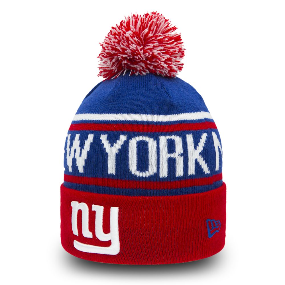 New York Giants Team Colours Youth Bobble Knit