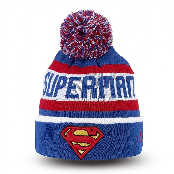 Superman Youth Bobble Cuff Knit | New Era Cap Co.