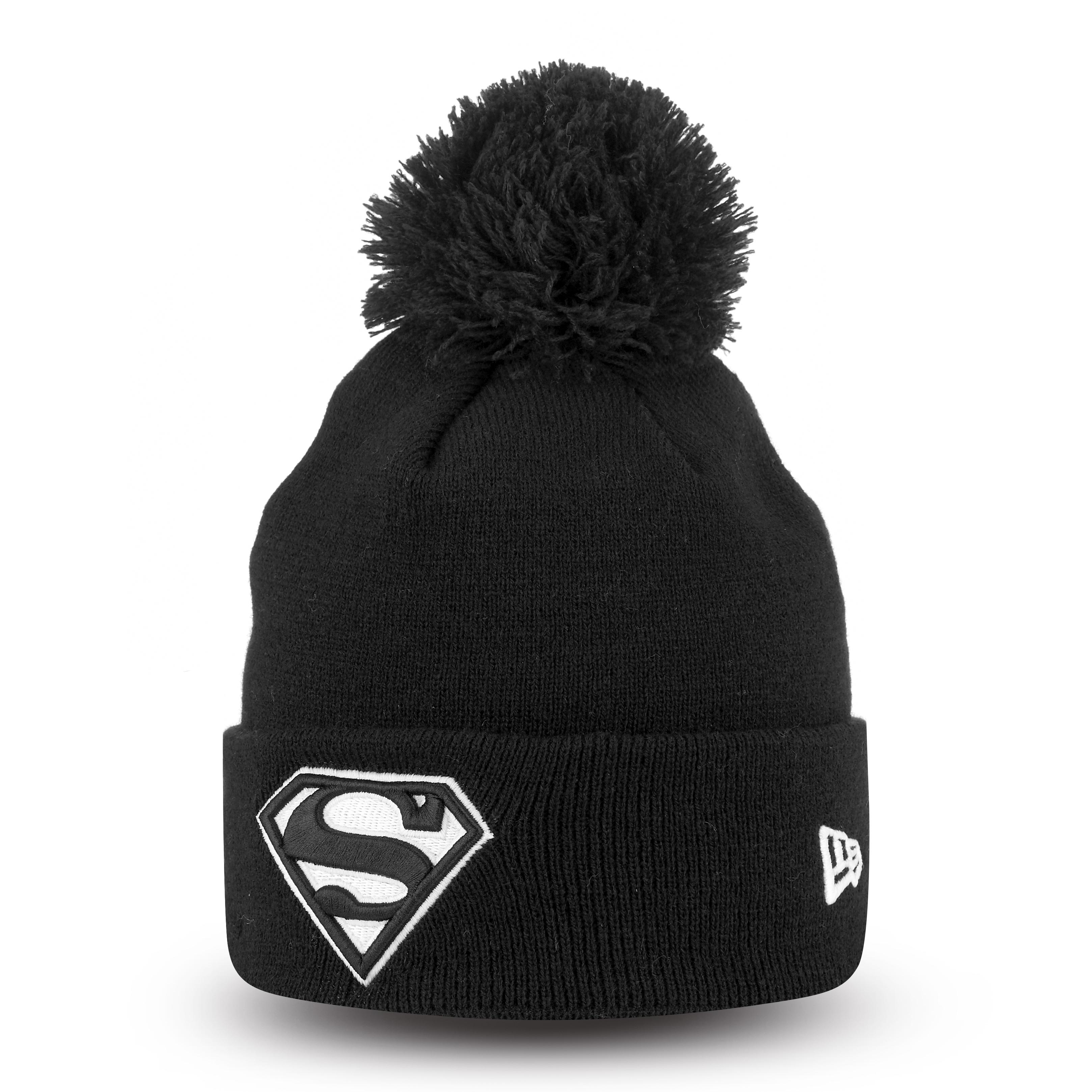 Superman Black Bobble Cuff Knit | New Era Cap Co.