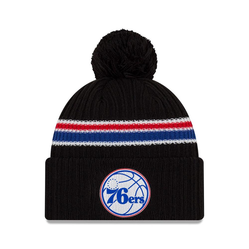 Berretto di maglia con metà posteriore nera dei Philadelphia 76ERS