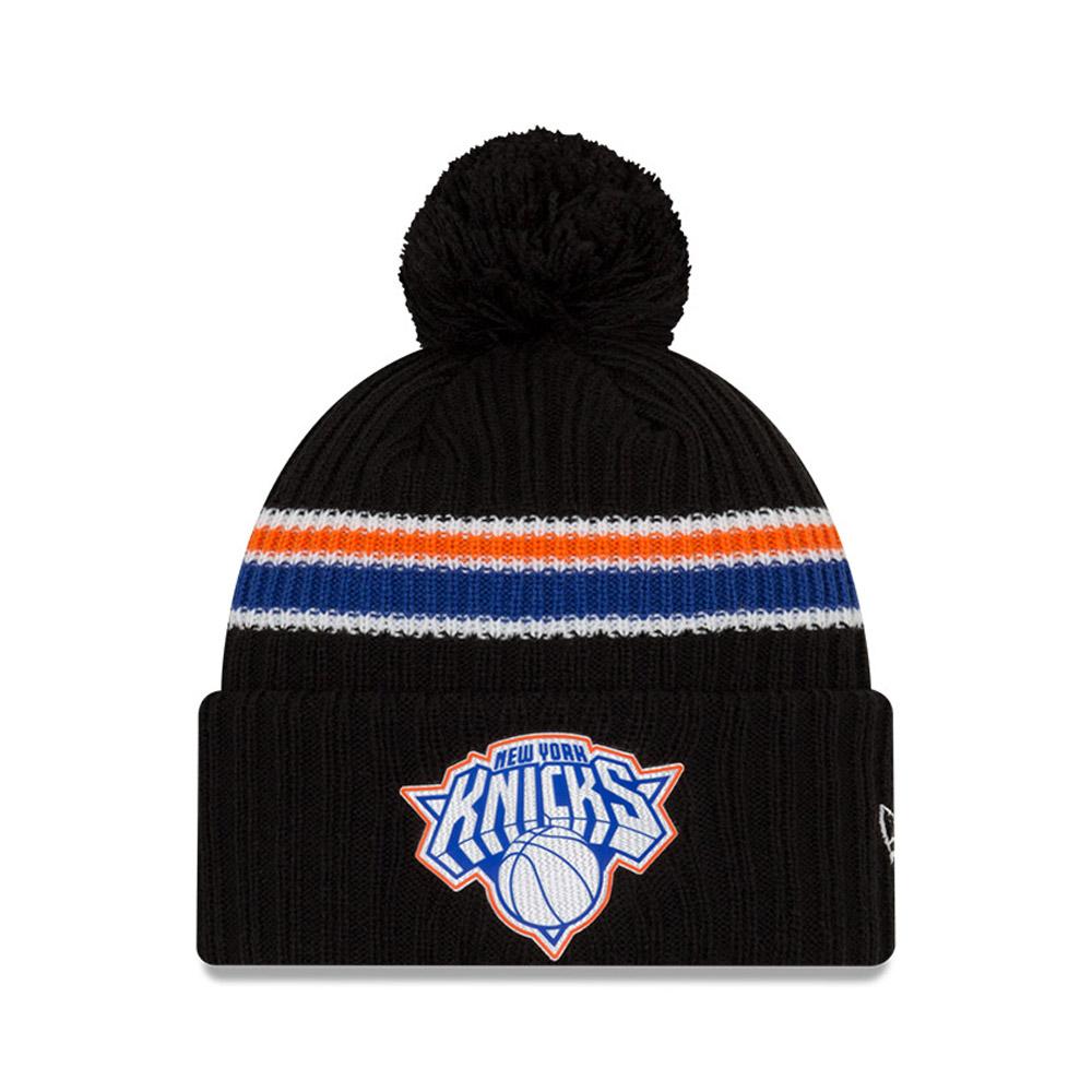 Berretto di maglia con metà posteriore nera dei New York Knicks