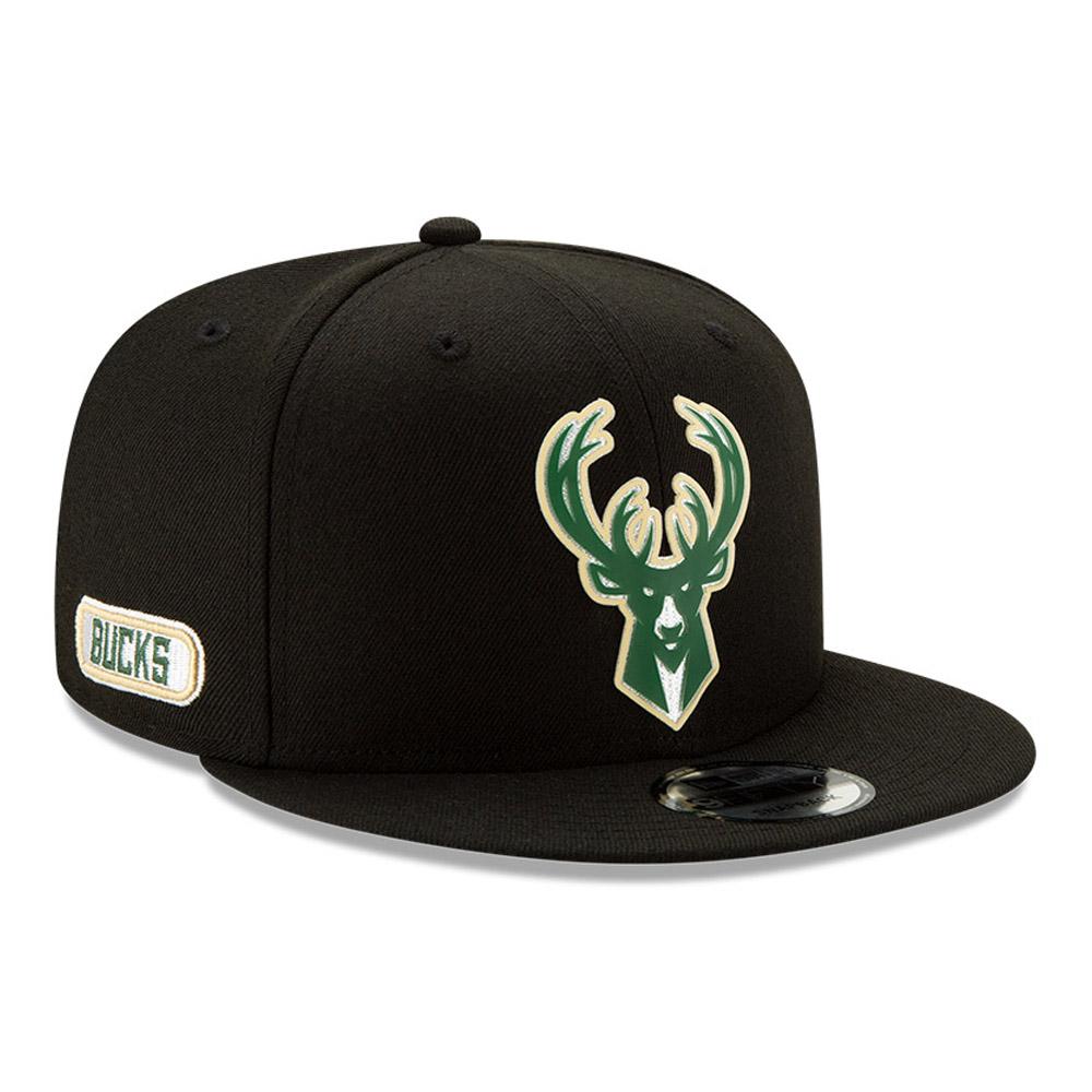 Milwaukee Bucks – Back Half 9FIFTY-Kappe in Schwarz