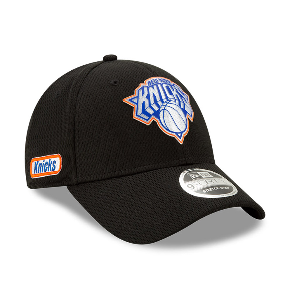 Cappellino 9FORTY Stretch Snap Half Black New York Knicks nero