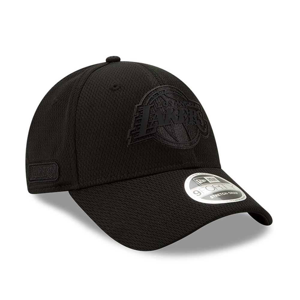 Los Angeles Lakers Back Half All Black Stretch Snap 9FORTY Cap