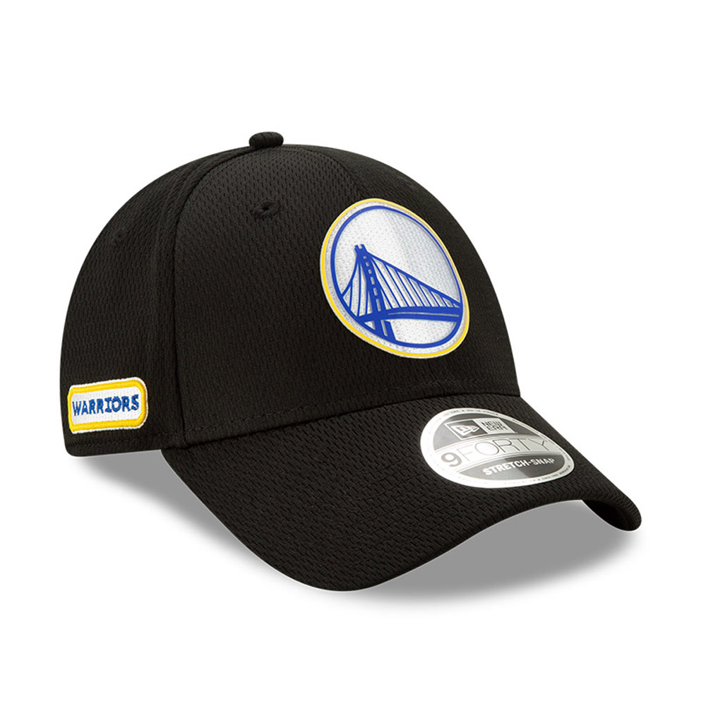 Golden State Warriors Back Half Black Stretch Snap 9FORTY Cap