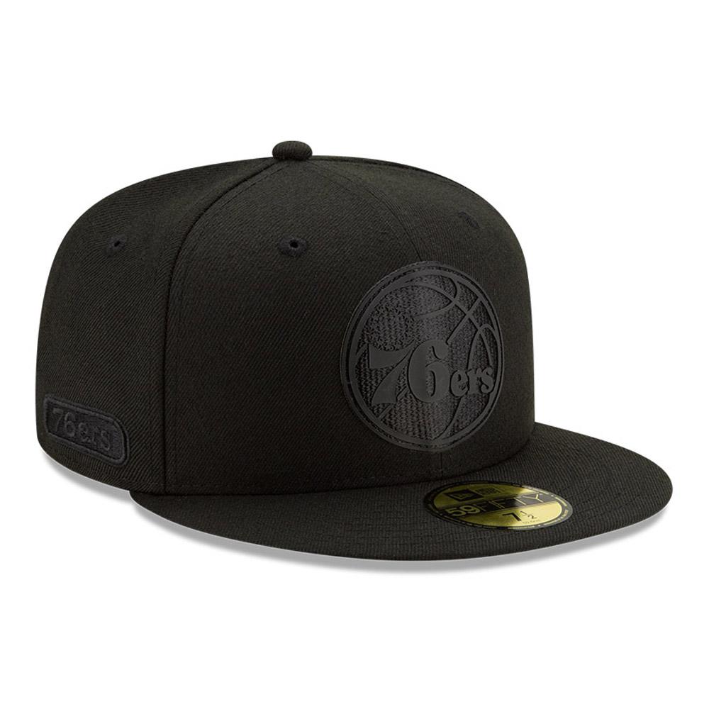 Cappellino 59FIFTY Philadelphia 76ERS con parte posteriore nera