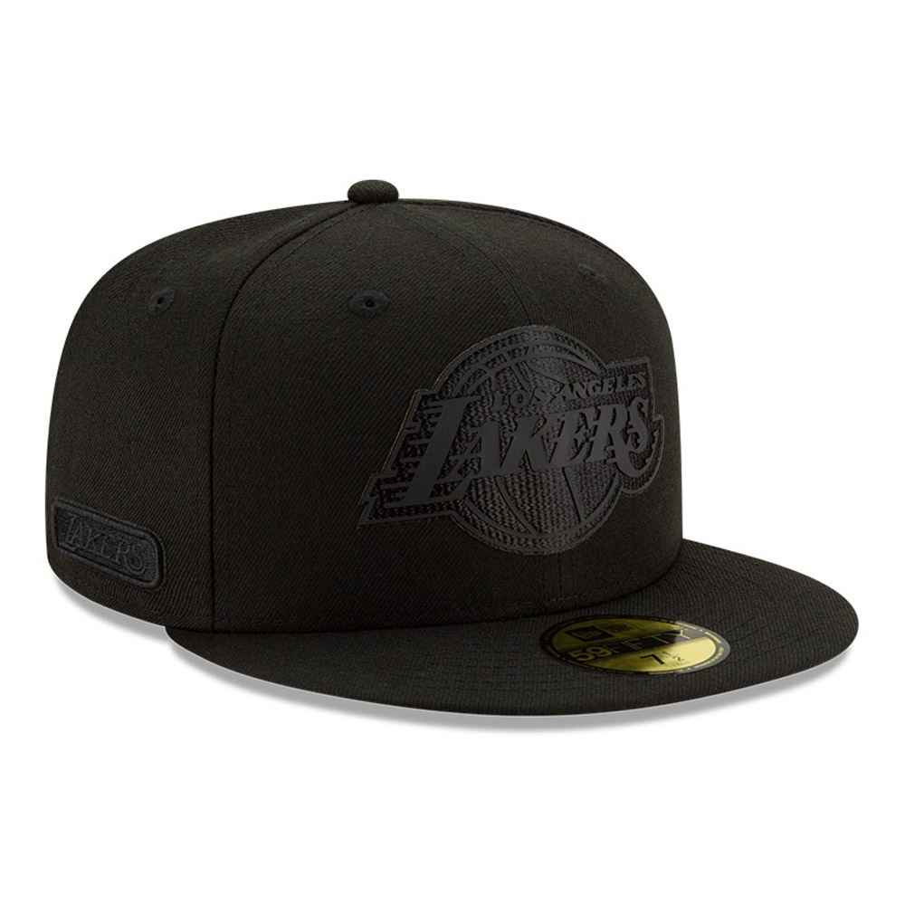 Los Angeles Lakers Back Half All Black 59FIFTY Cap