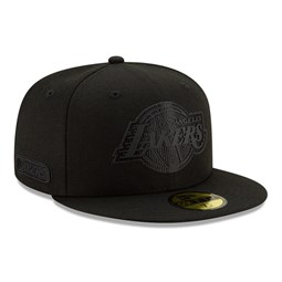 Cappellino 59FIFTY Back Half dei Los Angeles Lakers nero