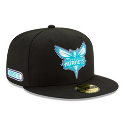 Charlotte Hornets Back Half Black 59FIFTY Cap