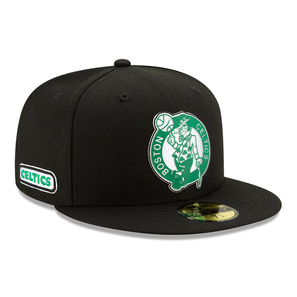 Casquette 59FIFTY Back Half noire des Boston Celtics