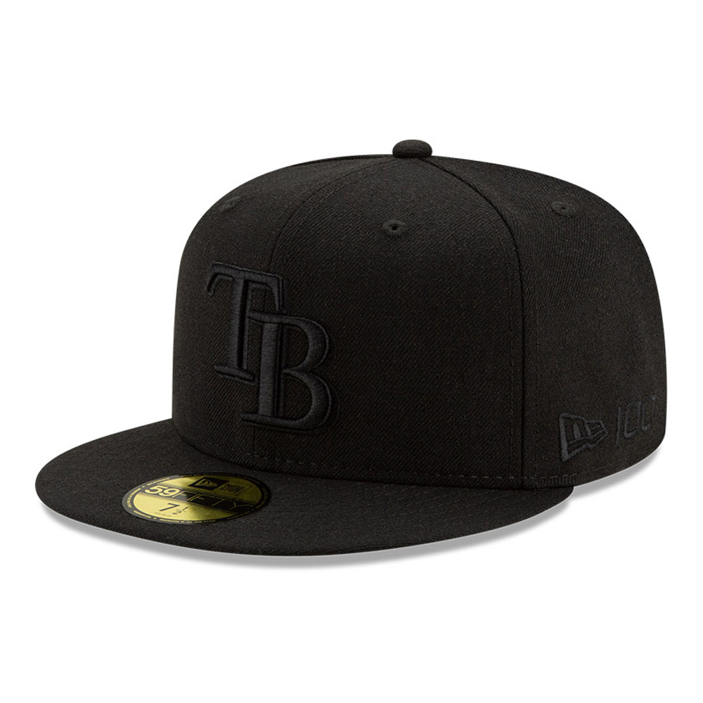 Cappellino 59FIFTY Tampa Bay Rays 100 Years Black on Black