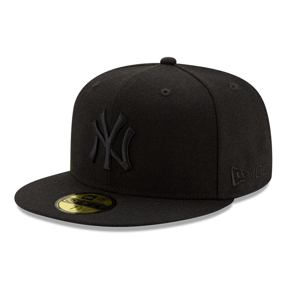 New York Yankees 100 Jahre Black on Black 59FIFTY-Kappe