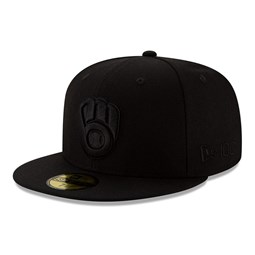 Cappellino 59FIFTY Milwaukee Bucks 100 Years Black on Black