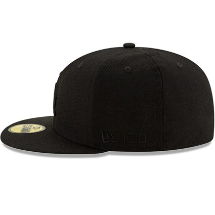 Los Angeles Dodgers 100 Years Black on Black 59FIFTY Cap