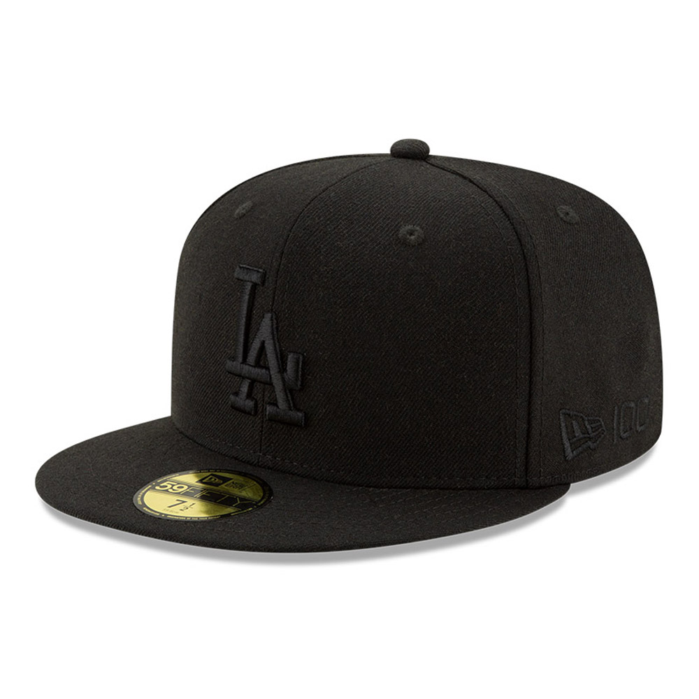 Cappellino 59FIFTY Los Angeles Dodgers 100 Years Black on Black