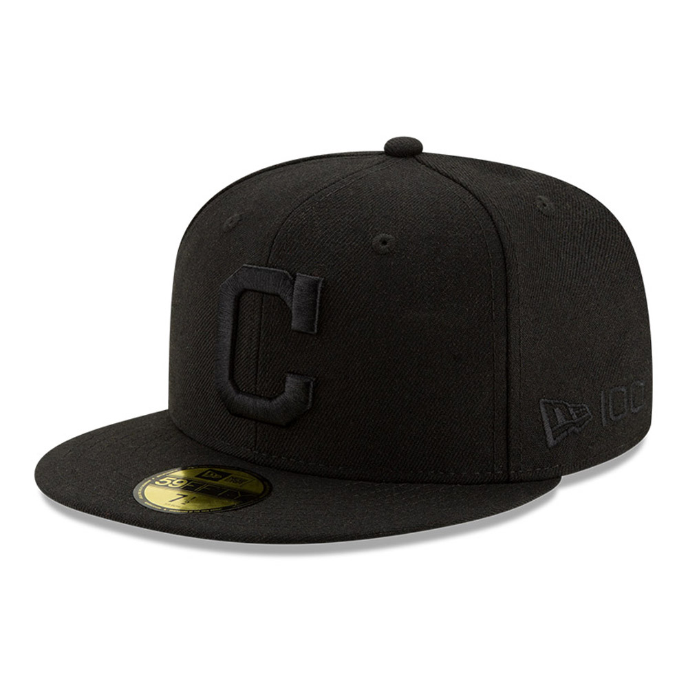 Casquette 59FIFTY 100 ans Black on Black Cleveland Indians