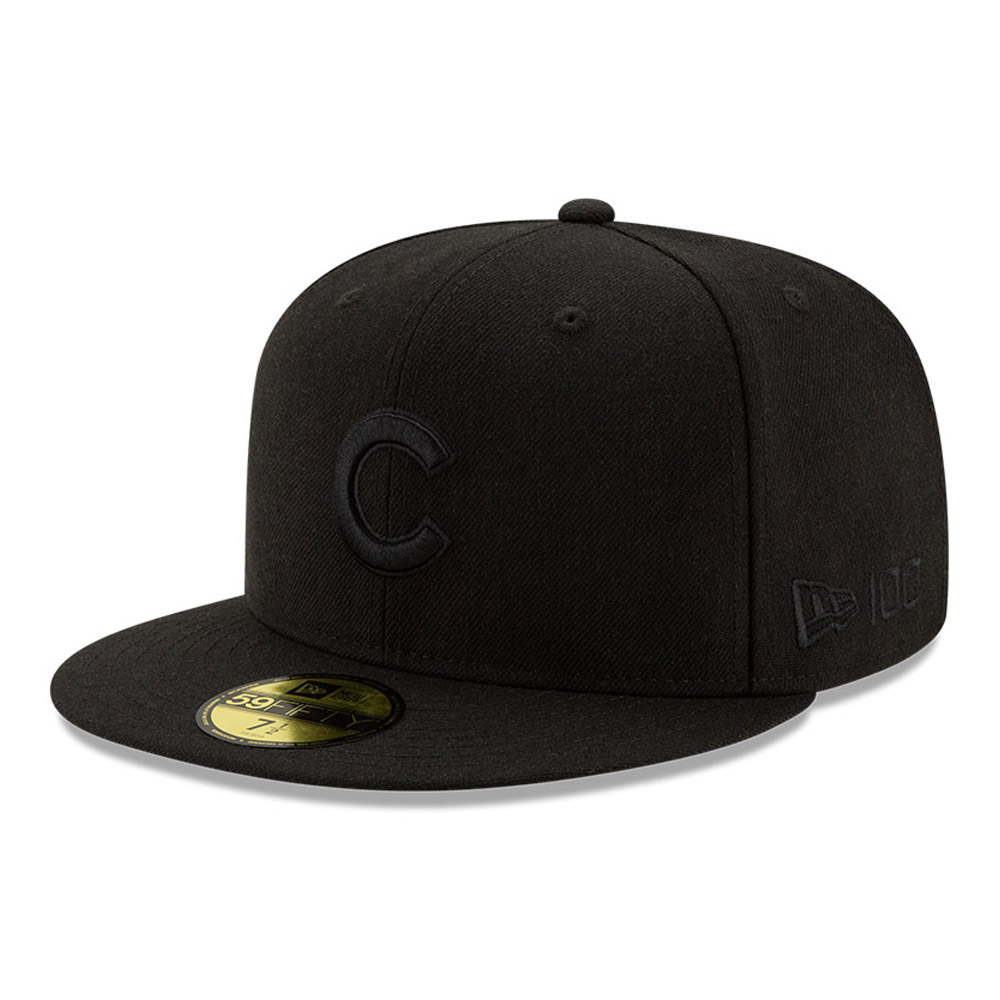 Cappellino 59FIFTY Chicago Cubs 100 Years Black on Black