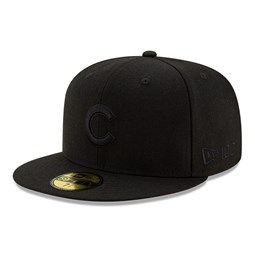 Casquette 59FIFTY 100 ans Black on Black Chicago Cubs