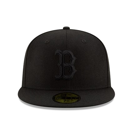 Boston Red Sox 100 Years Black on Black 59FIFTY Cap