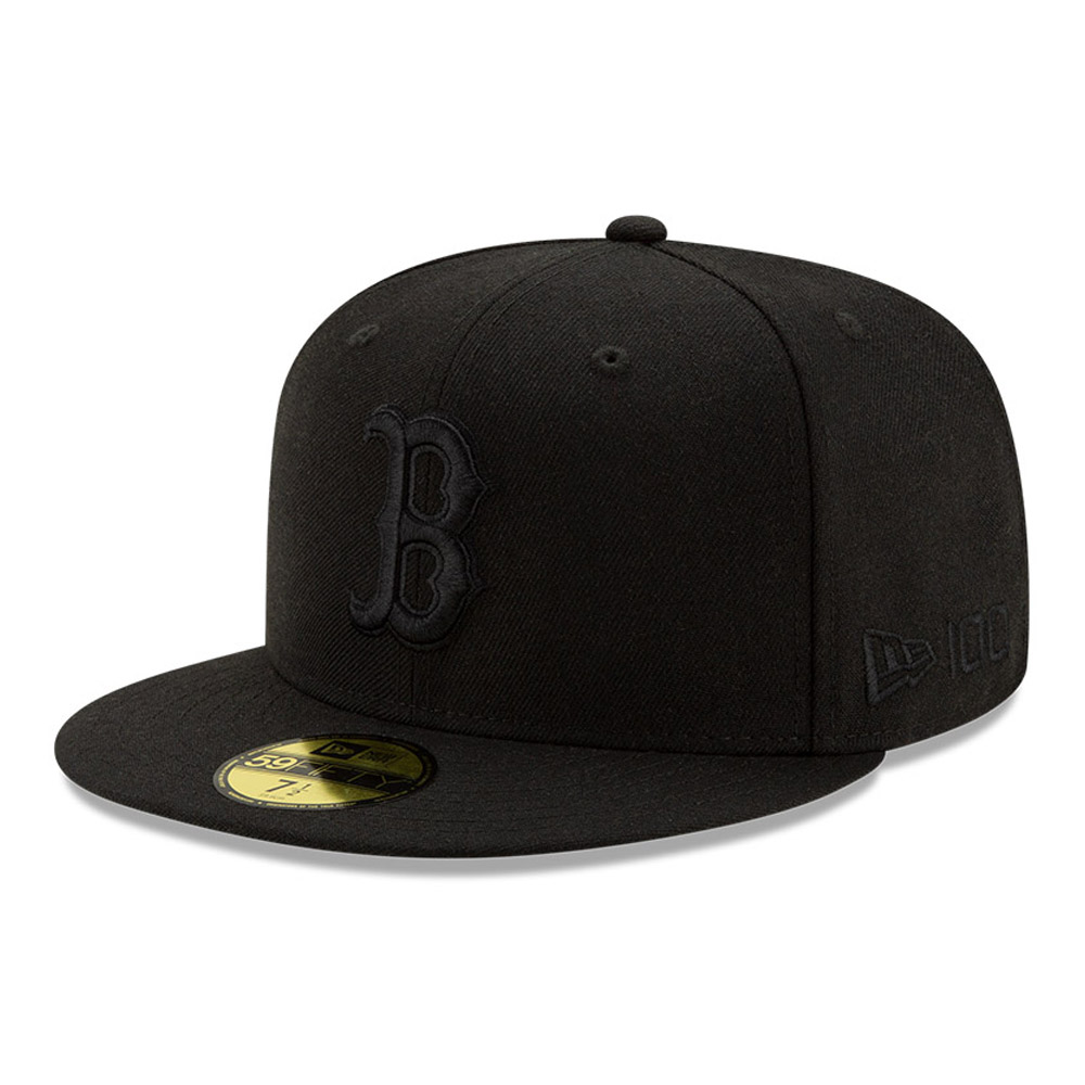 Boston Red Sox 100 Jahre Black on Black 59FIFTY-Kappe
