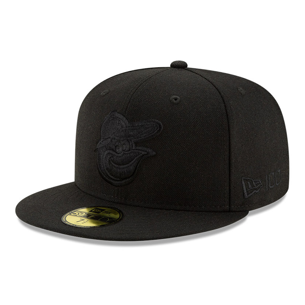 Cappellino 59FIFTY Baltimore Orioles 100 Years Black on Black