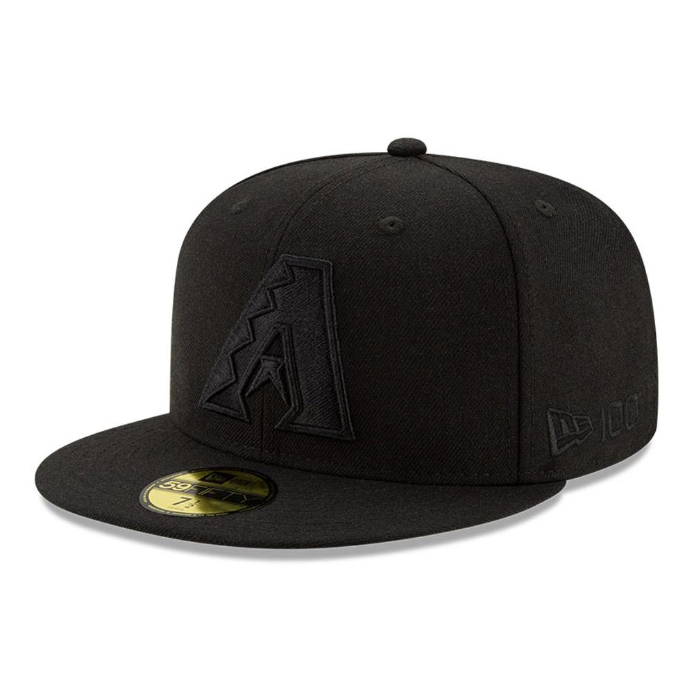 Cappellino 59FIFTY Arizona Diamondbacks 100 Years Black on Black