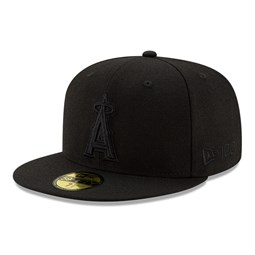 Anahiem Angels 100 Years Black on Black 59FIFTY Cap