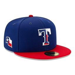 Gorra Texas Rangers Batting Practice 59FIFTY, azul