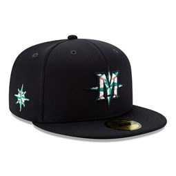 Cappellino 59FIFTY Batting Practice dei Seattle Mariners blu navy