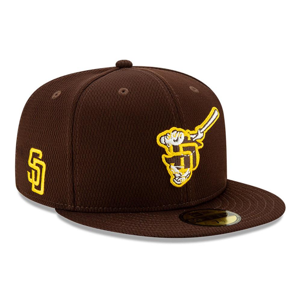 Cappellino 59FIFTY Batting Practice dei San Diego Padres blu navy