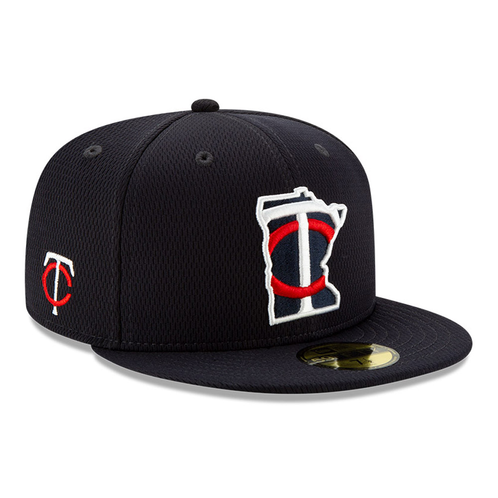 Casquette 59FIFTY Batting Practice Minnesota Twins, bleu marine