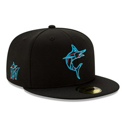 Gorra Miami Marlins Batting Practice 59FIFTY, negro