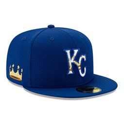 Casquette 59FIFTY Batting Practice Kansas City Royals, bleu