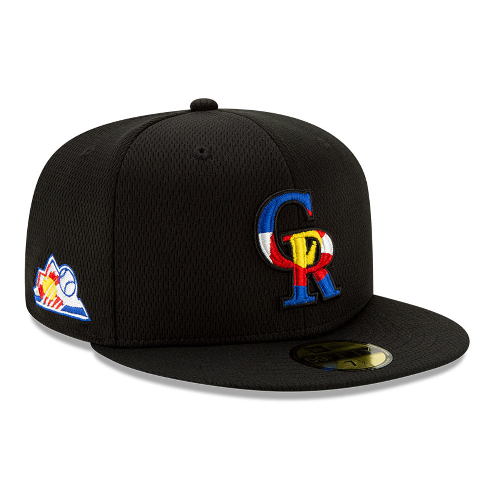 Casquette 59FIFTY Batting Practice Colorado Rockies, noir