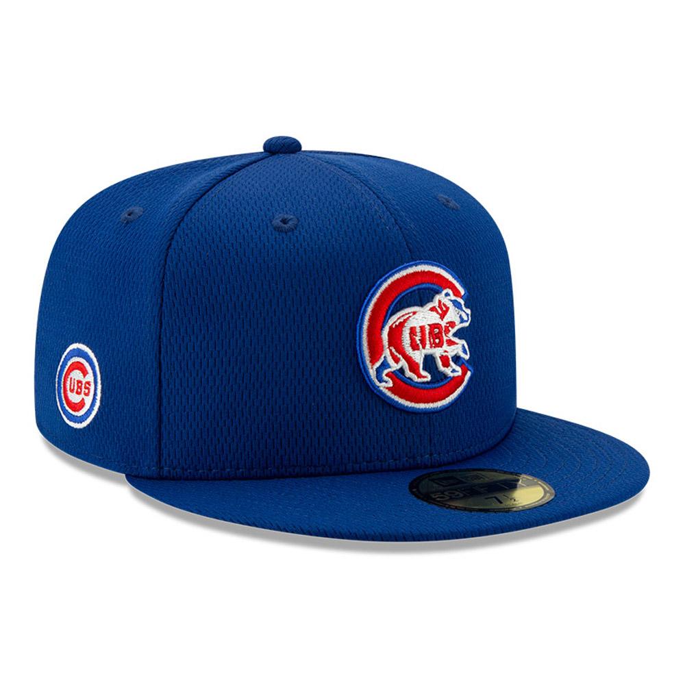 Casquette 59FIFTY Batting Practice Chicago Cubs, bleu