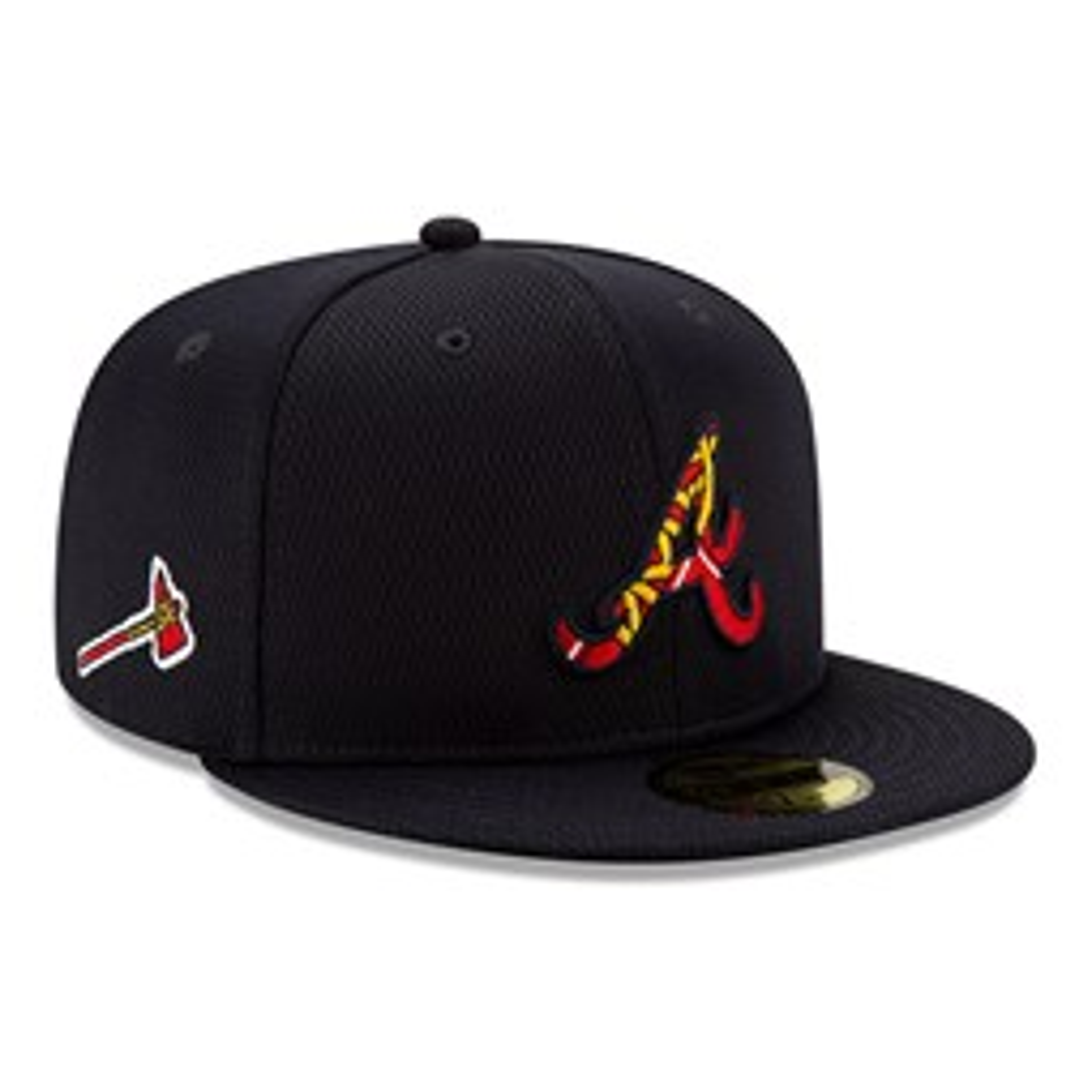 Cappellino 59FIFTY Batting Practice degli Atlanta Braves blu navy