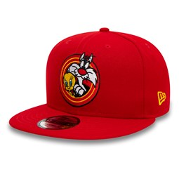 Tweety Bird und Sylvester Power Couple 9FIFTY-Kappe in Rot