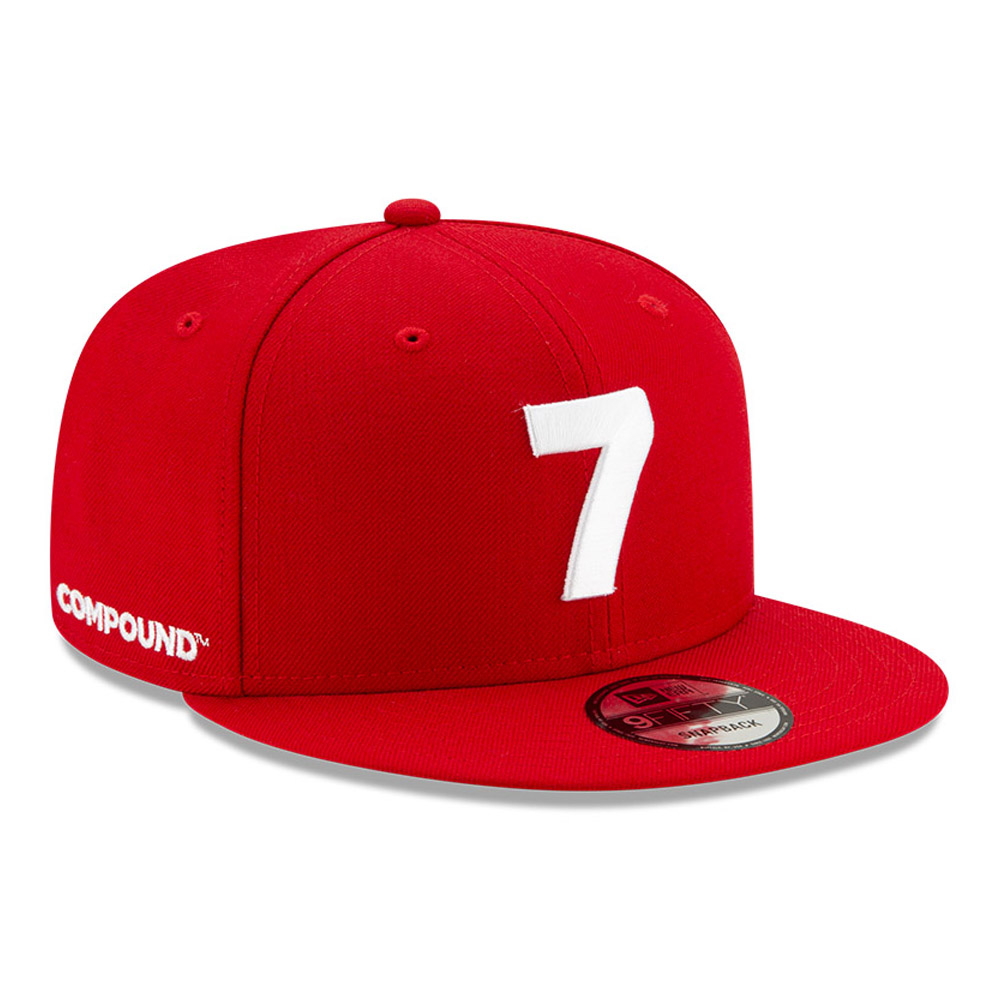 New Era Compound 9FIFTY-Kappe in Rot