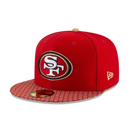 San Francisco 49ers 2017 Sideline Red 59FIFTY