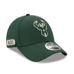 Gorra Milwaukee Bucks Back Half Stretch 9FORTY con botón de presión, verde