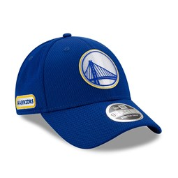 Gorra Golden State Warriors Back Half Stretch 9FORTY con botón de presión, azul