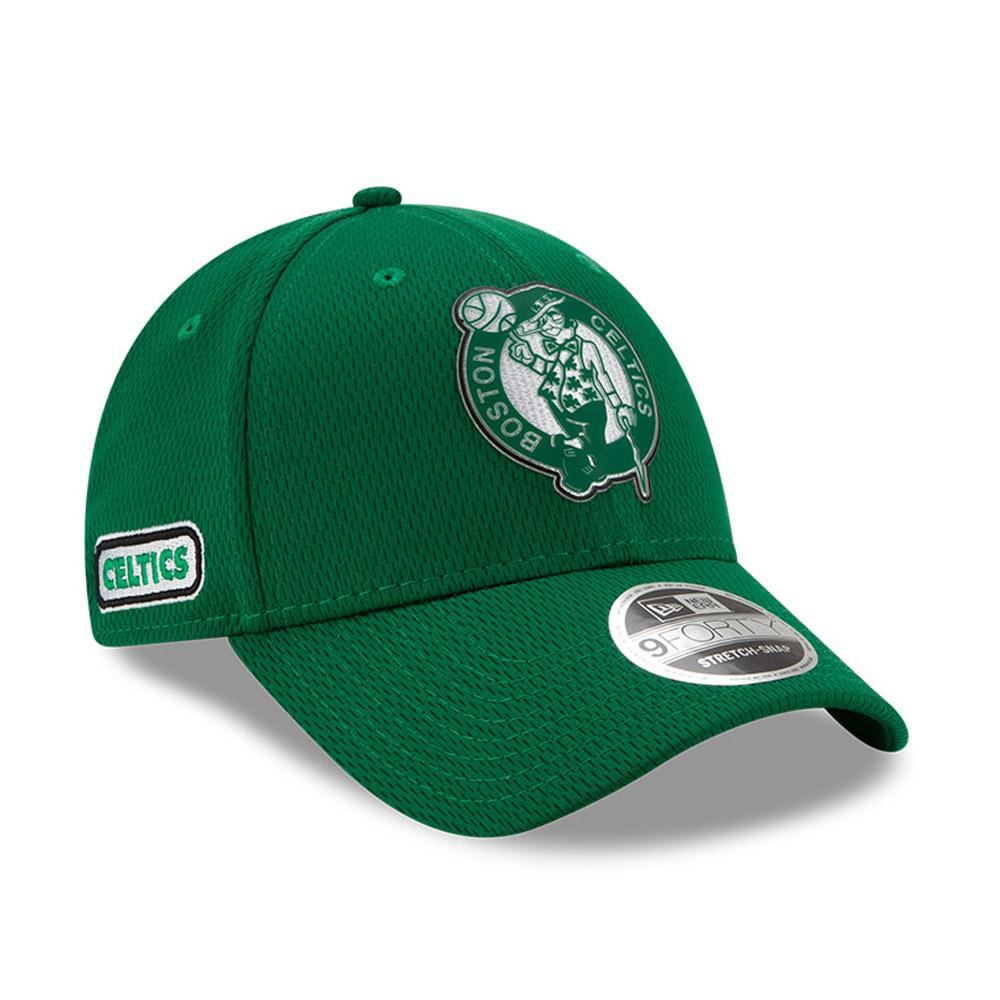 Gorra Boston Celtics Back Half  9FORTY elástica con botón de presión, verde