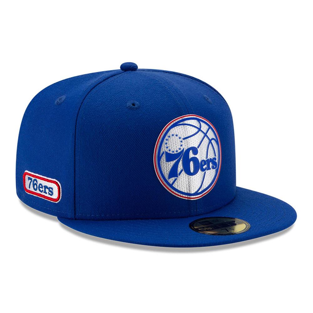 Back Half 59FIFTY-Kappe der Philadelphia 76ERS in Blau