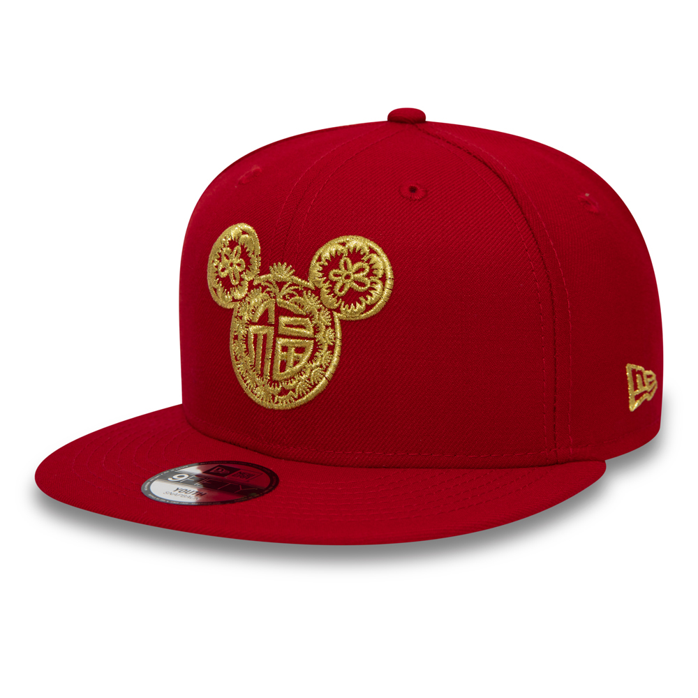 Mickey Mouse Chinese New Year Kids Red 9FIFTY Cap