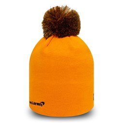 Bonnet à pompon multi McLaren orange