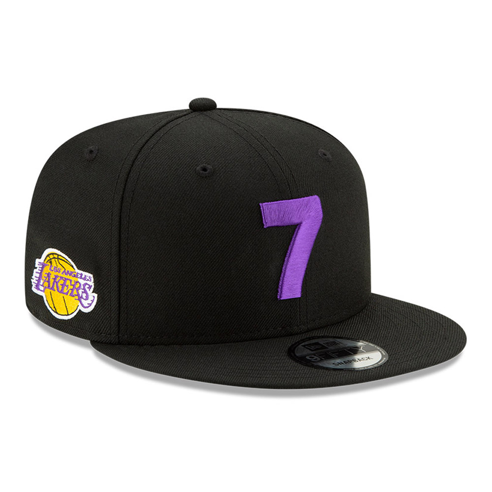 Casquette 9FIFTY noire Compound des Lakers de Los Angeles