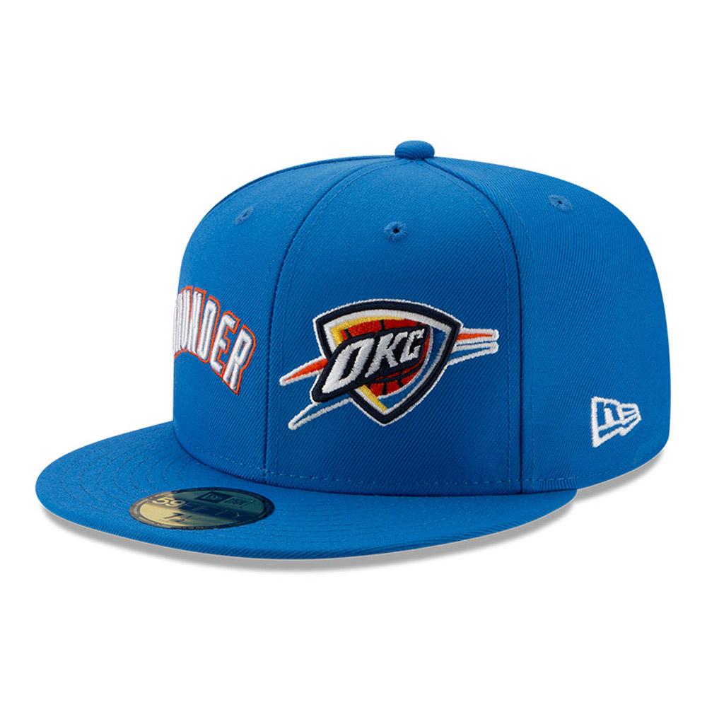 Casquette 59FIFTY bleue de l'année 100 des Thunder d'Oklahoma City