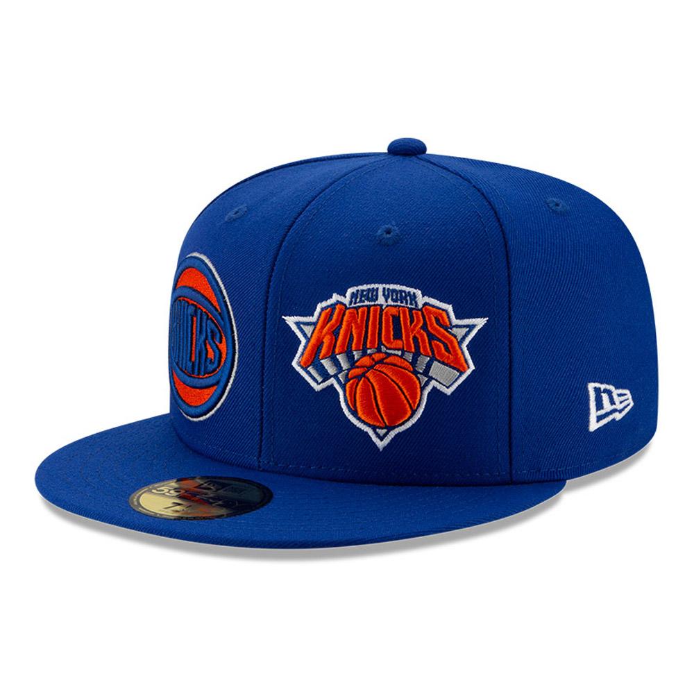 Casquette 59FIFTY bleue de l'année 100 des Knicks de New York