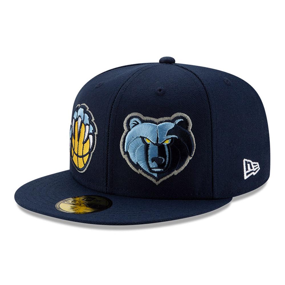 Casquette 59FIFTY bleue de l'année 100 des Grizzlies de Memphis